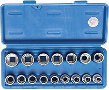 16 Pièces Socket Jeu de Clés 12 bord Noix Écrou 8-24 mm BGS Technic 2226