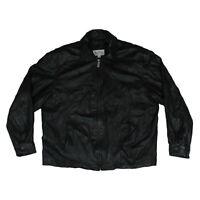 Wilsons Leather M. Julian Jacket Black Bomber Coat Motorcycle Men's Size L Large