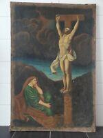 GROßES BAROCK ÖLGEMÄLDE XVI 16JH JESUS CHRISTUS / 110X73 / KIRCHE / RARITÄT