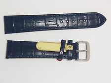 "DI-Modell Genuine Calf Leather Alligator Grain 20 mm NAVY Watch Band ""BALI"""