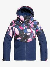 Roxy Frozen Flow Snow Jacket - Youth Girls - 12/L, Medieval Blue Plumes (BTE5)