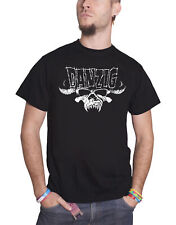 Danzig T Shirt Classic Outline Band Logo Horned Skull Official Mens New Black