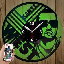 LED Vinyl Clock Kanye West LED Wall Art Decor Clock Original Gift 4610