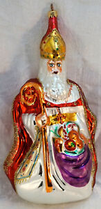 Rare Christopher Radko 1995 THE BISHOP Red Robe and First One Made in Germany