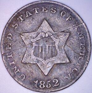 1852  3pc. Three Cent Piece! Mint Error? *WYSIWYG! No Reserve!