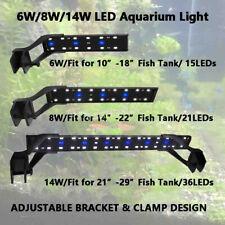Led Aquarium Clip on Light Fish Tank Growth Planted Lighting with Extend Bracket