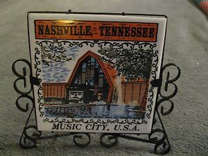Country Music Hall Of Fame Nashville Tennessee Vintage Mid Century Napkin Holder
