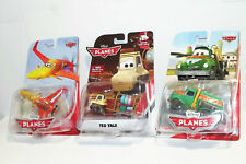 LOT OF 3 DISNEY PIXAR CARS PLANES ISHANI, TED YALE & CHUG NEW