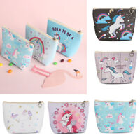 Cute Kids Coin Purses Holder Animal Unicorn Women Mini Change Wallets Money Bag