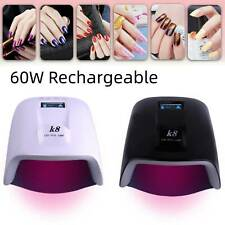 Smart Cordless Rechargeable 60W Uv Led Gel Nail Polish Lamp Dryer Whitening Hand