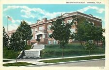 Shawnee Oklahoma~Corner Terraced Steps to Senior High School~Young Trees~1927 pc