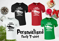 Personalised Surname Family Christmas T-Shirt, Griswold Santa Kids & Adults Top