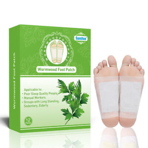 Sumifun 12Pcs Detox Foot Patch Toxins Feet Slimming Cleansing Medical Plaster s/
