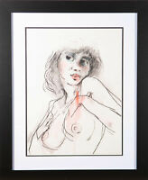 Peter Collins ARCA - 20th Century Charcoal Drawing, Pink Lips