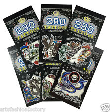 Halloween 6 Books Temporary Tattoo, Bulk 300+ Animal Tribal Tattoos for Guys