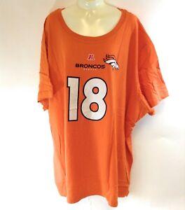 Womens NFL Majestic Denver Broncos Peyton Manning #18 Orange Tee T-Shirt