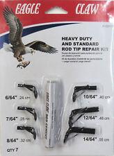Heavy Duty Standard Rod Tip Repair Kit, Six Tips, Repair Fishing Rods #AHDRTK
