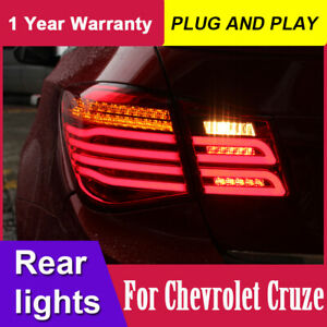 For Chevrolet Cruze LED Tail Lights 2009-2014 RED/Black LED Rear Lamps Assembly