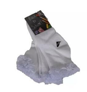 3-6- 12 PAIR Girls Back To School Socks -Girls Lace Frill Sock-KIDS FRILLY SOCK