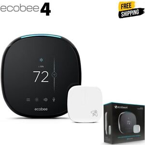 ecobee4 Smart Thermostat with Built-In Alexa, Room Sensor Included EB-STATE4-01