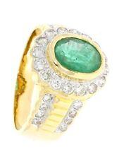 Reinheit SI Echtschmuck-Ringe mit Smaragd für Damen