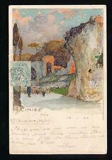 France CIMIEZ Used 1902  artist Manuel Wielandt u/b PPC