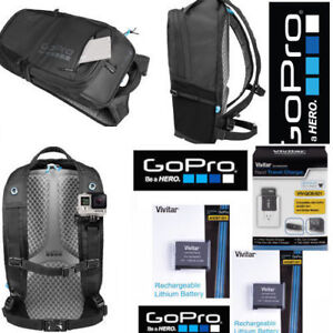 GoPro BACKPACK AWOPB-001 + 2 AABAT-001 BATTERIES +  CHARGER FOR GOPRO CHDHB-501