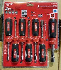 MILWAUKEE 48-22-2417 7 PC Hollow Shaft Metric Nut Driver Set