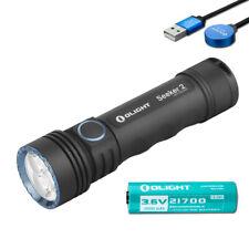 Olight Seeker 2 3000 Lumen USB Rechargeable LED Flashlight and Olight Battery