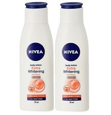 Nivea Extra Whitening Cell Repair Body Lotion SPF 15, 75ml (pack of 2)