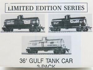 HO Scale Walthers 932-9070 GATX GRCX WRNX Gulf Oil '36 Tank Car 3-Pack