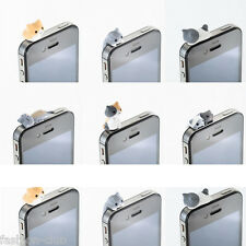 1Pc Lovely Cheese Cat 3.5mm Earphone Ear Cap Anti Dust Plug Cover For Cell Phone