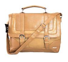 Lorenz Cowhide Genuine Real Leather Briefcase Satchel Shoulder Office Handbag Tan