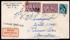 2957 US TO ARGENTINA EXPRES SPECIAL DELIVERY COVER 1941 GRANT PARK, IL - Bs. As.