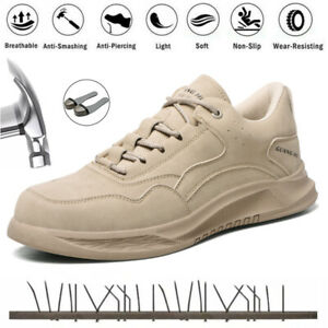 MENS SAFETY TRAINERS WOMENS STEEL TOE CAP WORK BOOTS HIKING SHOES SIZE [UK 11]