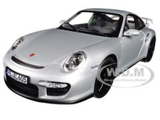 2007 PORSCHE 911 GT2 SILVER W/ BLACK WHEELS 1/18 DIECAST MODEL BY NOREV 187594
