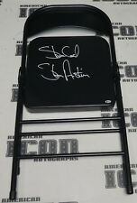 Stone Cold Steve Austin Signed Steel Folding Chair BAS Beckett COA WWE Autograph