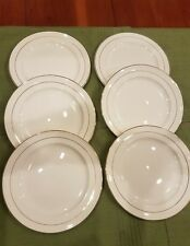 Edwin M. Knowles SEMI VITREOUS China-Classic pattern-set of 6 dinner plates-EUC
