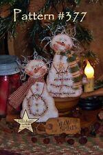 Primitive Patti's Ratties Snow Doll Stitchery Ornies Paper Pattern #377