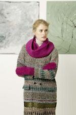 Lang Yarns Lusso/ Malou Light / Cara Knitting Pattern Rundschal, Fausthandschuhe