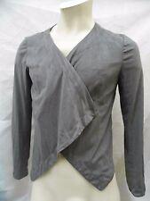 Bonita Strickjacke Cardigan Wickeljacke Damen Größe 40 Grau Langarm Polyester