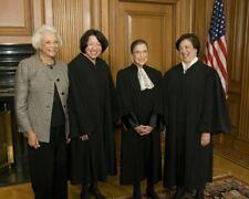 JUSTICE SANDRA DAY O'CONNOR, SOTOMAYOR, RUTH BADER GINSBERG, & KAGAN 8X10 PHOTO