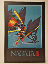 Wind Surfing Sailing Nagata Signed Numbered Poster
