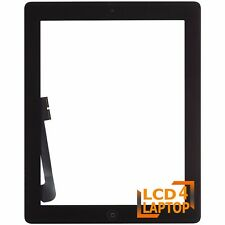Replacement iPad3 Touch Screen Digitizer Glass Black with Home Button+Adhesive