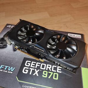 EVGA GeForce GTX 970 FTW ACX 2.0, 4096 MB GDDR5 - Top Zustand!