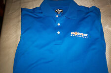 NWOT PING PERFORMANCE MENS POLO GOLF SHIRT S/S - BLUE-MEDIUM