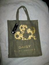 New Women's Green & Gold Daisy Fragrance Tote By Marc Jacobs
