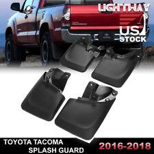 2016-2018 TOYOTA TACOMA Splash Guards Mud Flaps Mudguards Black 4PCS FRONT& REAR