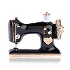 Machine Brooch Enamel Brooch Jewelry Women Accessories For Suit Black Sewing