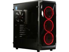 APEX Apexgaming X1 Black Steel / Tempered Glass E-ATX Mid Tower Chassis Computer